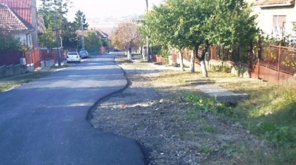 Un drum din oraşul Tăşnad, judeţul Satu Mare