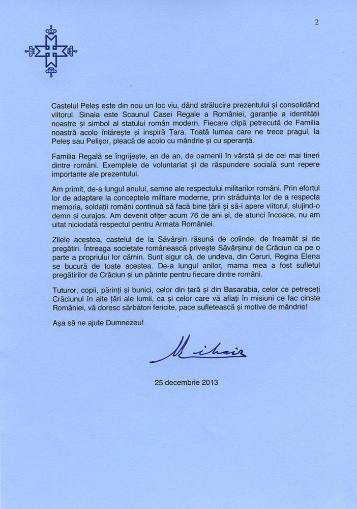 Mesajul Majestatii Sale Regelui Mihai I de Craciun (2013) (3/3)